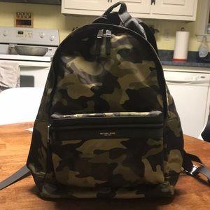 Michael Kors camo nylon backpack